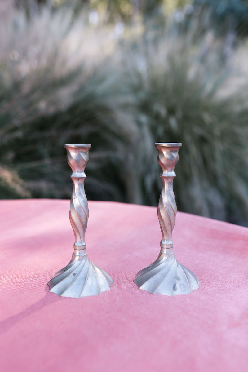 Ari Brass Candlesticks, Set of Two