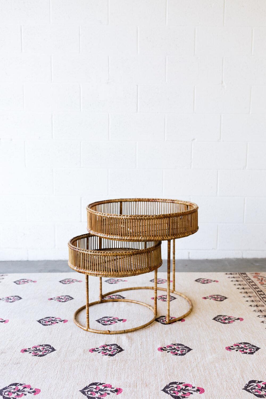 Delilah Bamboo Nesting Tables