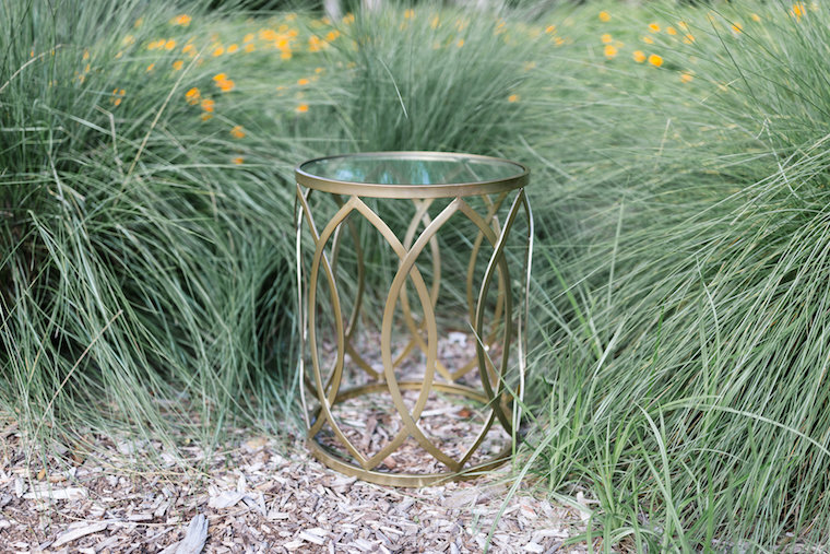 Maisie Gold Airy Accent Table
