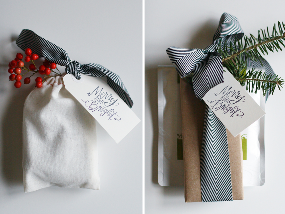 holiday-gift-wrap-with-fir-berries