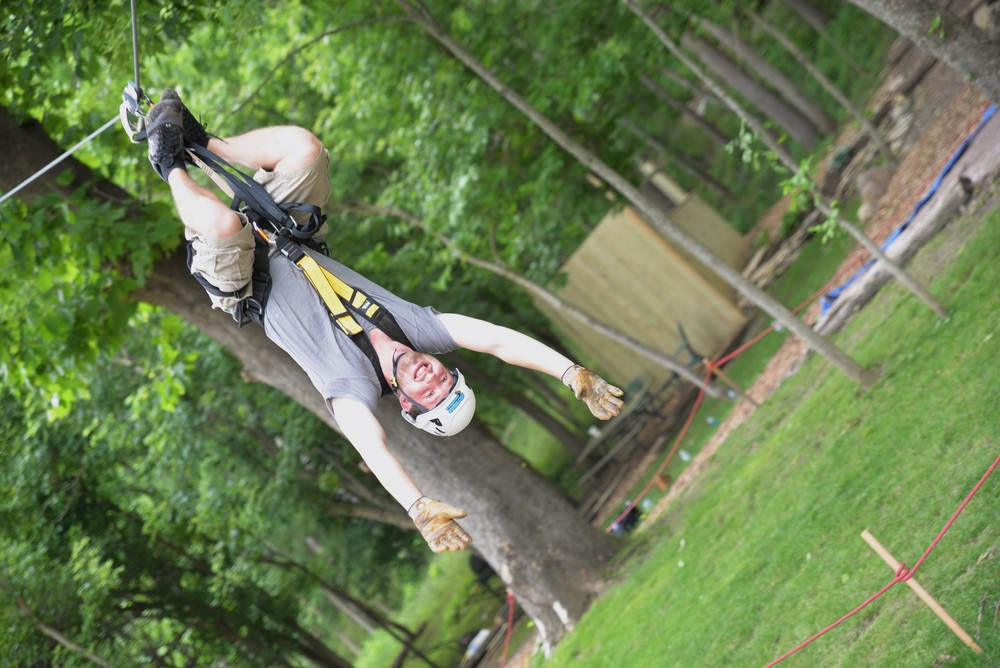 Hang Out with us on our Signature Defy Gravity Zip Line in Brookville, Indiana!