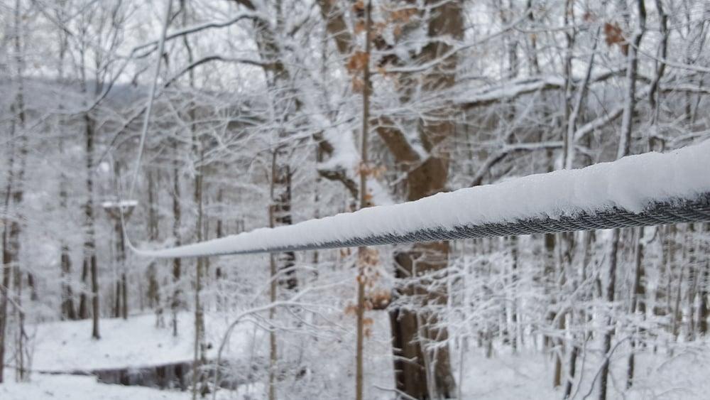 Winter Zipline Brookville Indiana