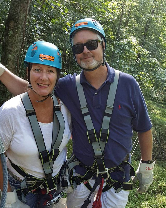 Thank you John and Jenny for #adventuring with us today! #skywardadventures #zipline