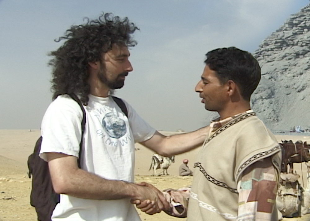 Local guide at the pyramids
