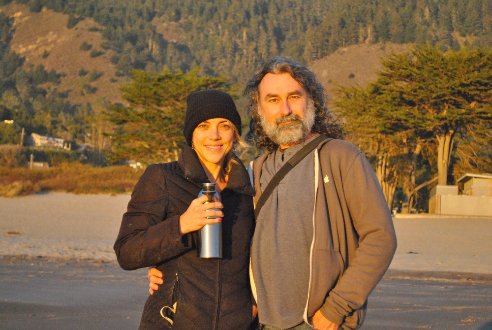 Shiloh and I at Stinson Beach, California, photo by Savannah.