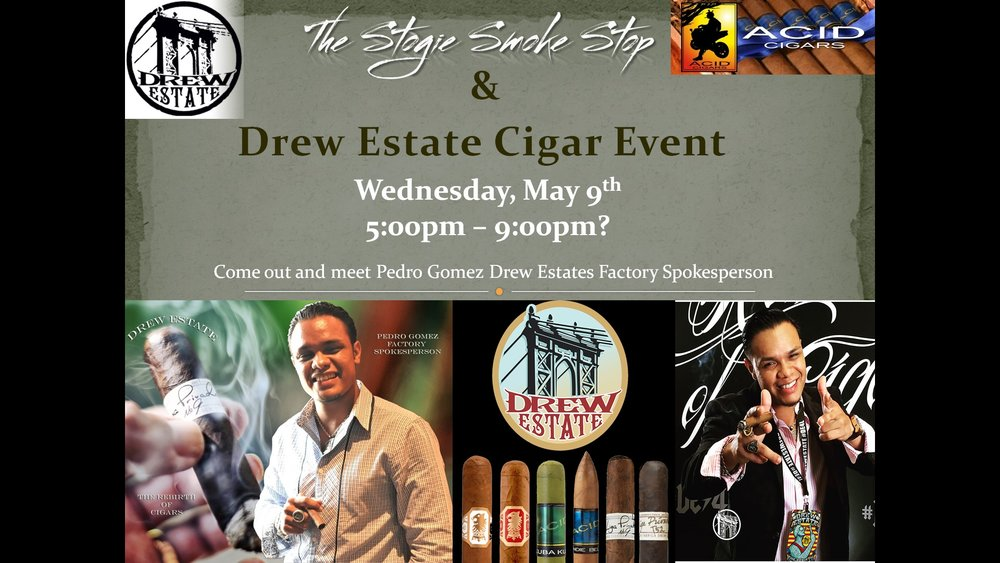 Drew Estate Cigar Event w/ Pedro Gomez, Factory Spokesperson
