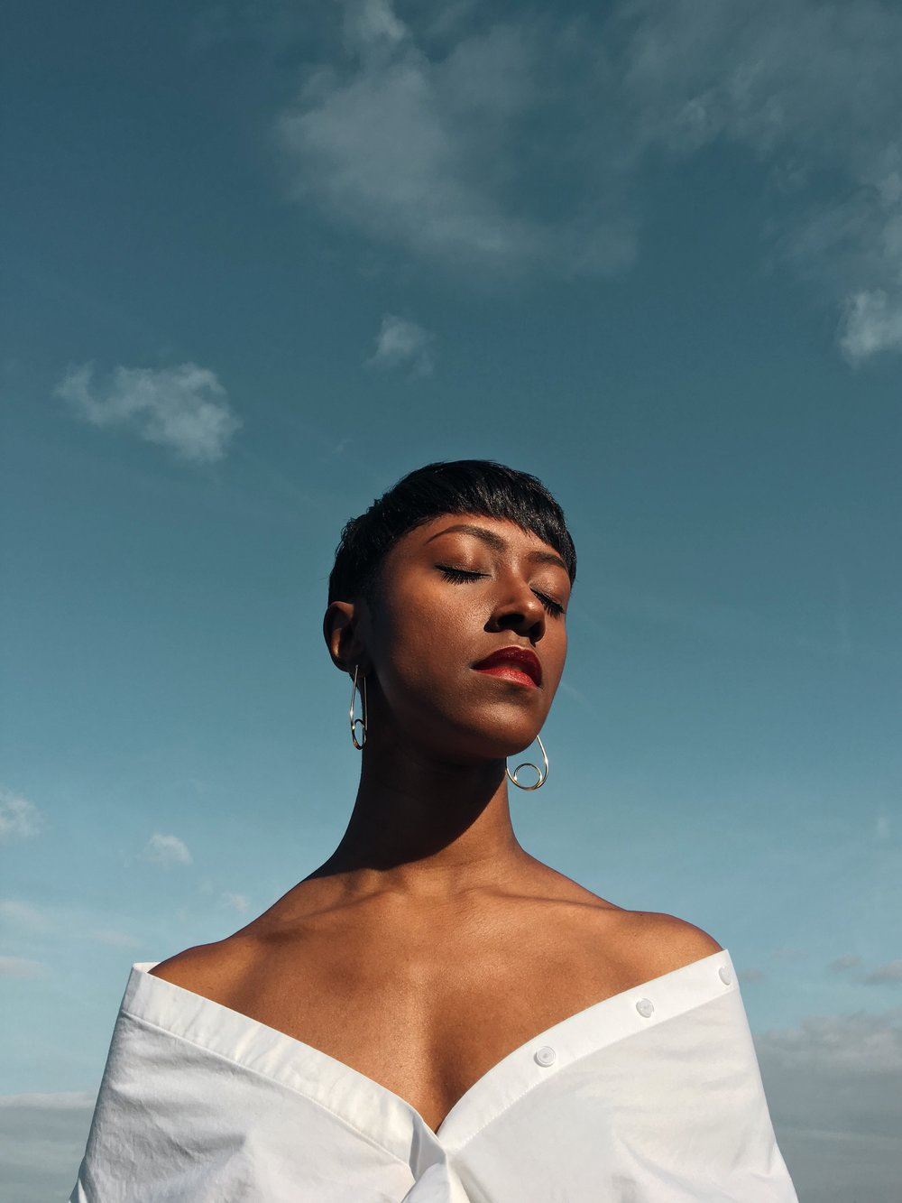 Self portraits using iPhone.     Brooklyn, NY