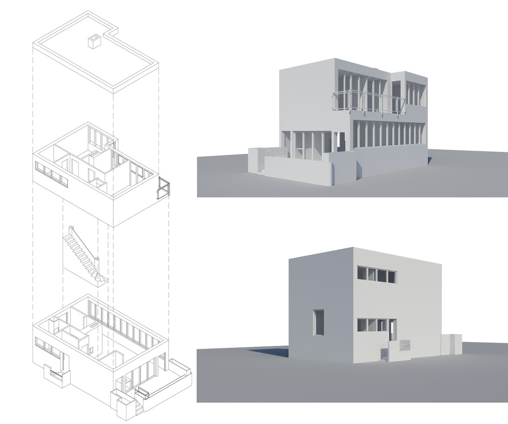 Redrawing of the House of Dr Nelken in Warsaw' designed by Helena Niemirowska Syrkus