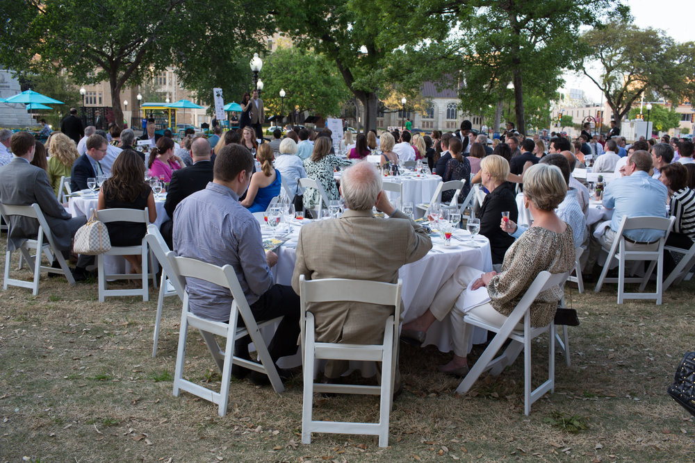 Fundraising Dinner, Travis Park, San Antonio, Texas