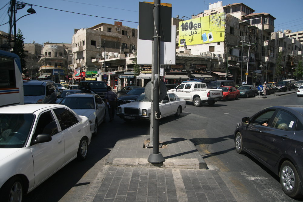 Inefficient public transport and the streets dominated by individual cars make free movement of women around Amman rather difficult, photo (c) Pavel Borecky