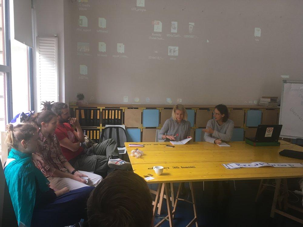 Pavla Pelčíková během tréninku Enhancing Sustainable Urban Development in Local Politics, Budapešt  (c) MIlota Sidorová