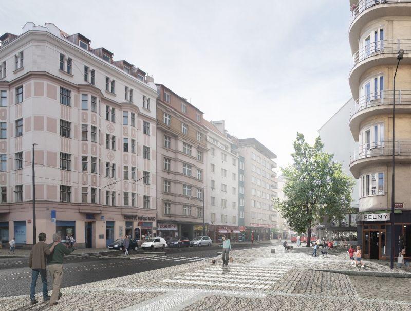 První pilotní projekt kanceláře participace pod vedením Pavly Pelčíkové, rekonstrukce Vinohradské, Praha  (c) IPR