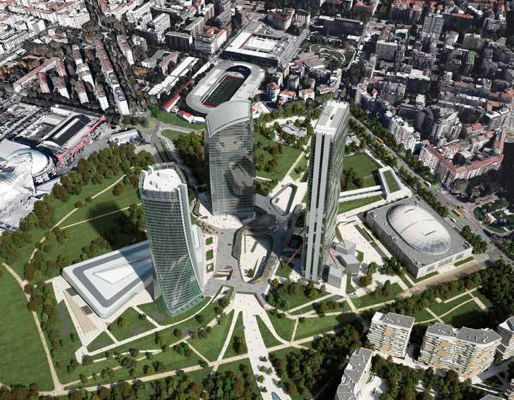 CityLife Milano, Central tower – Studio Libeskind. Foto- Struttura Leggera
