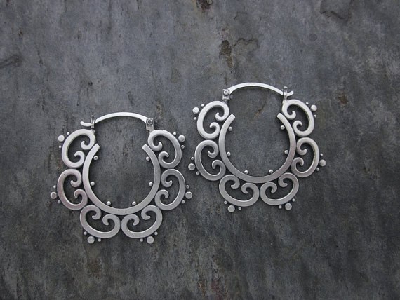 LG Ornate Hoops  ORN102-H-SS $60 ORN102-H-SS $70