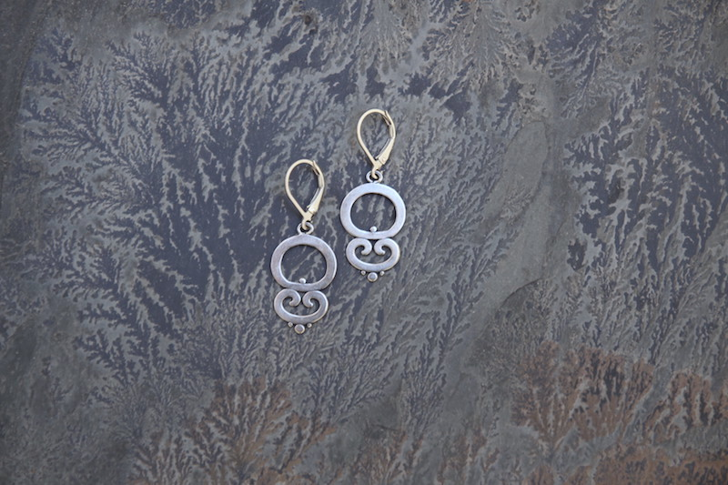 Ornate Dangle Earrings  ORN111-D-SS $30 ORN111-D-GP $40