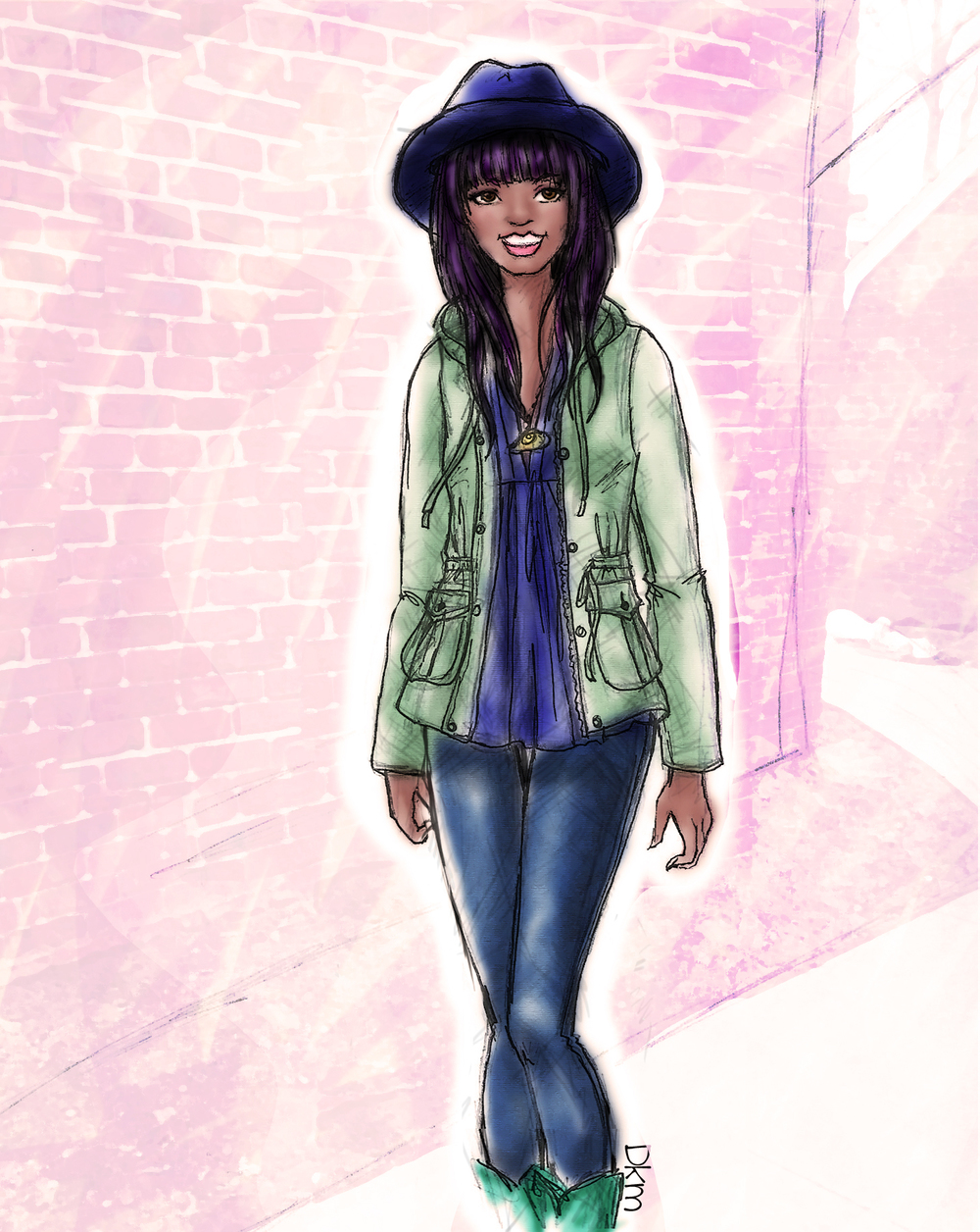Monika of Violet Roots Blog - Fashion Illustration