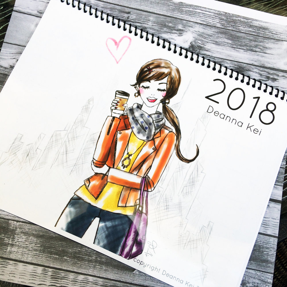 My cover girl is armed with coffee and ready to take on the new year!