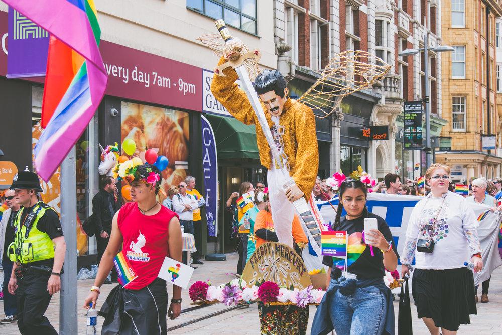 Freddie mercury in the parade