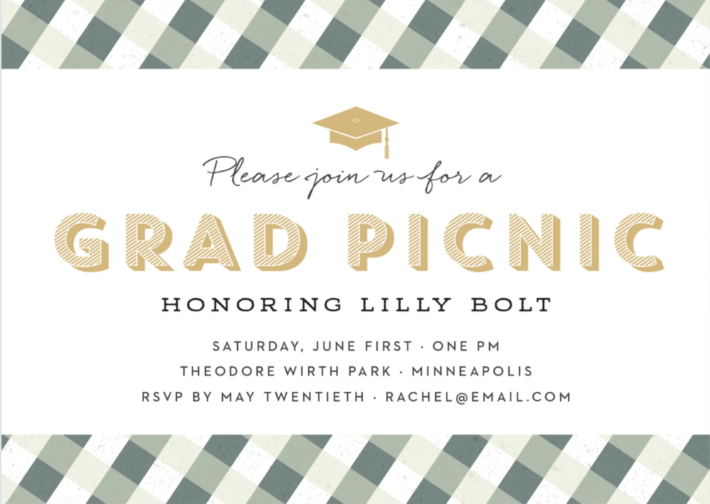 Basic Invite Graduation Picnic Invite