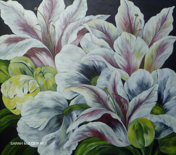 "White Sunshine  48"" x 54"" / Acrylic on Canvas / SOLD"