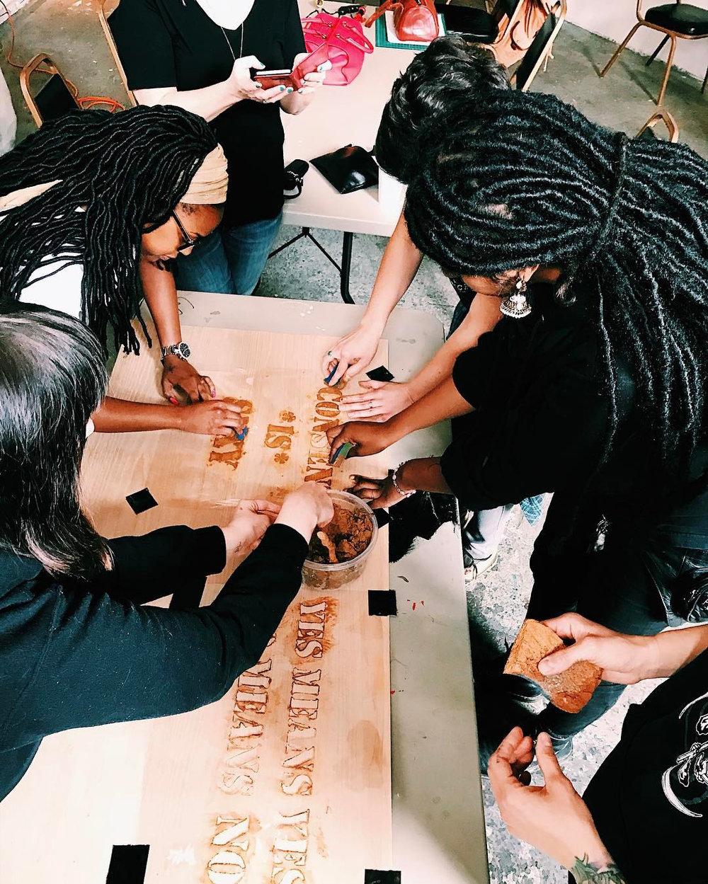 - Today on the V Word, local artist/activist, Malena Magnolia is featured from her workshop: LEARN HOW TO MUD STENCIL WITH MALENA MAGNOLIA AND CREATE STENCILS COMBATTING SEXUAL AND/OR DOMESTIC VIOLENCE!