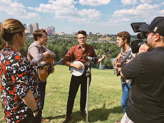 Filmed a little spot with Dinner TV for @edmfolkfest  We play a tweener on the mainstage tomorrow at 7:00. Get at us if you're going to the fest!