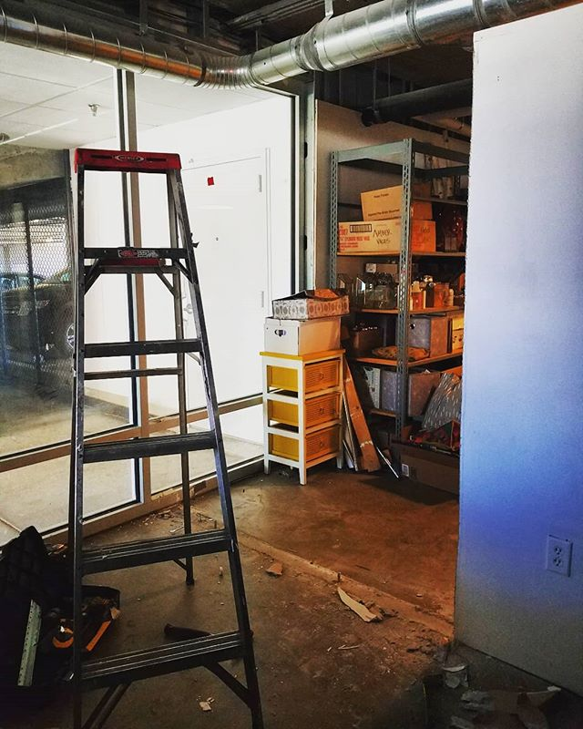 Changes to walls around the studio today!