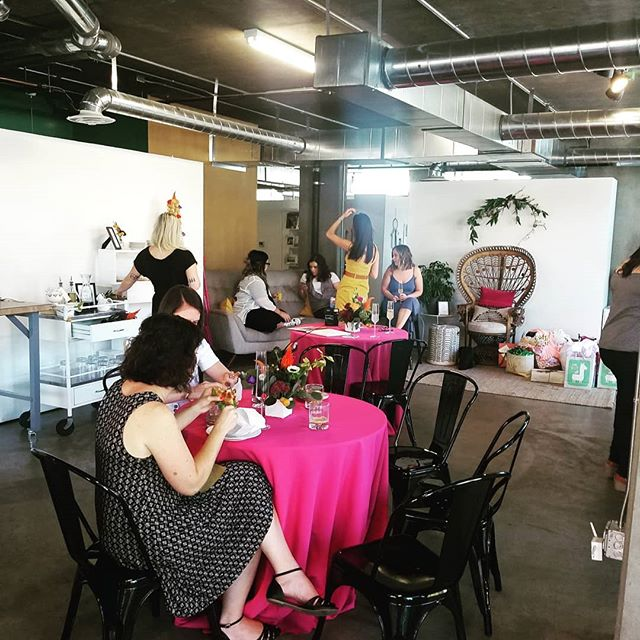 Fun baby shower in the space today!
