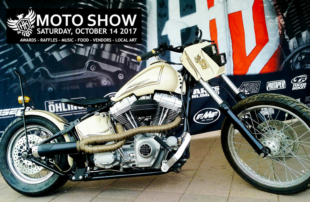HK MOTO SHOW -  SATURDAY, OCTOBER 14, 2017415 S. McClintock Dr. Front Lot - Tempe, AZ 852813PM - TIL IT'S OVER!