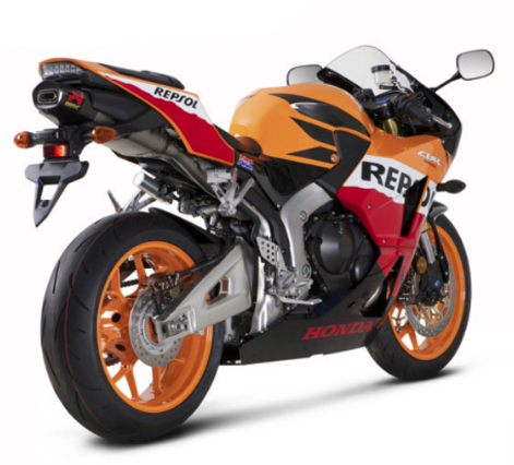Honda CBR with Akrapovic Slip-on Mufflers and Bazzaz Fuel Management System