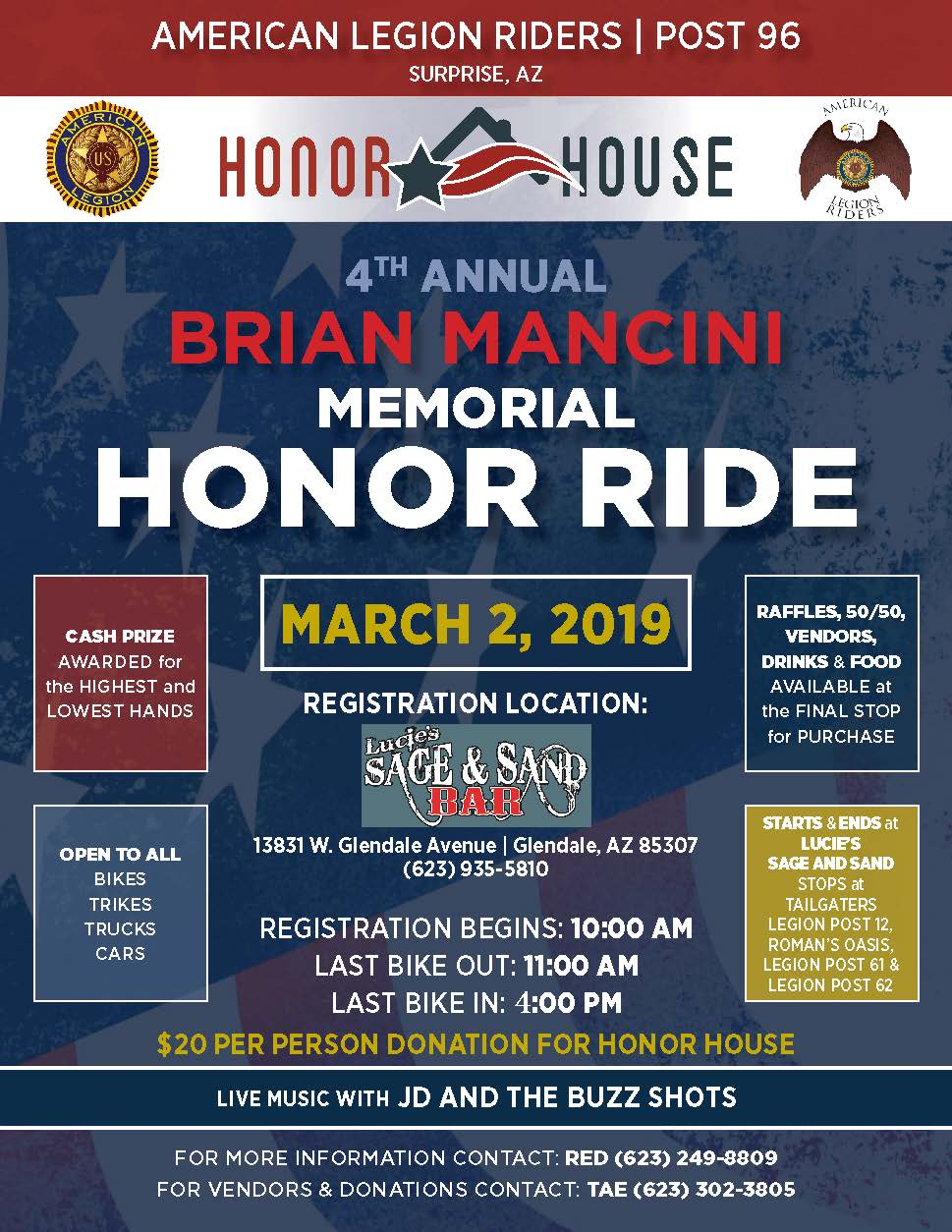 4th Annual Brian Mancini Memorial Honor Ride And Poker Run