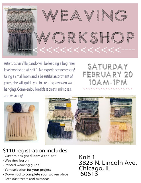Weaving Workshop! — Knit 1 Chicago