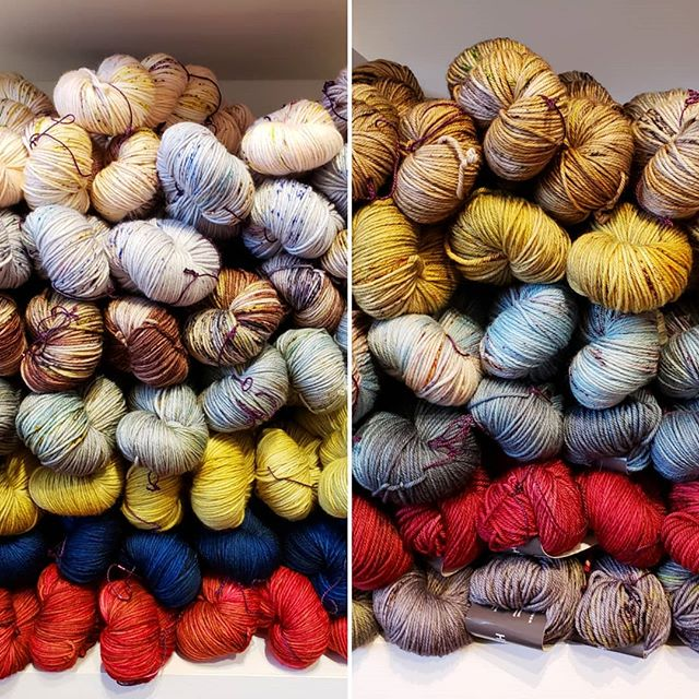 Hello new @madelinetosh! We just got a big batch of MadTosh DK in and it's got us dreaming of casting on our next sweater! #madelinetosh #madtoshdk #toshdk #knit1chicago #knit1chgo