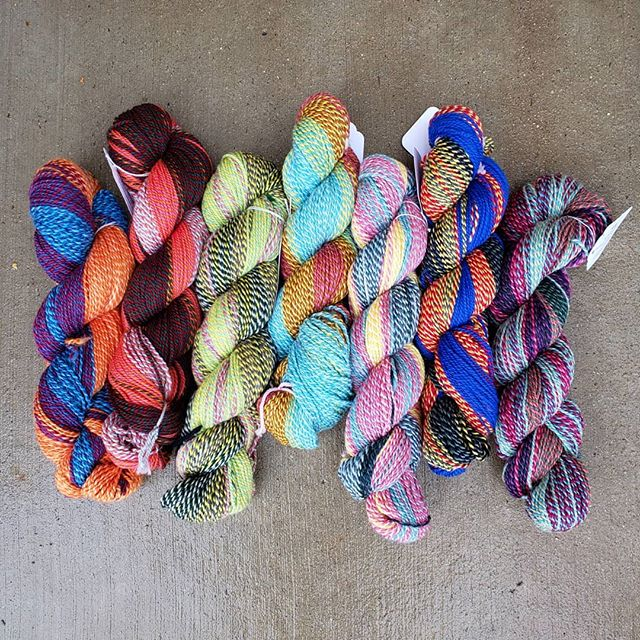 Nothing like some Stonehenge Fiber Mill Crazy Yarn to brighten up this grey day! We just got a HUGE shipment - how amazing would this yarn be as a Shifty Pullover!? Come get it before our staff takes it all home! #stonehedgefibermill #stonehedgefibermillcrazy #shiftysweater