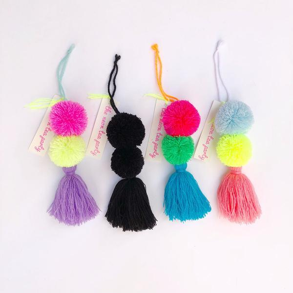 The Neon Tea Party Pom Pom Workshop Bag Charms.jpg