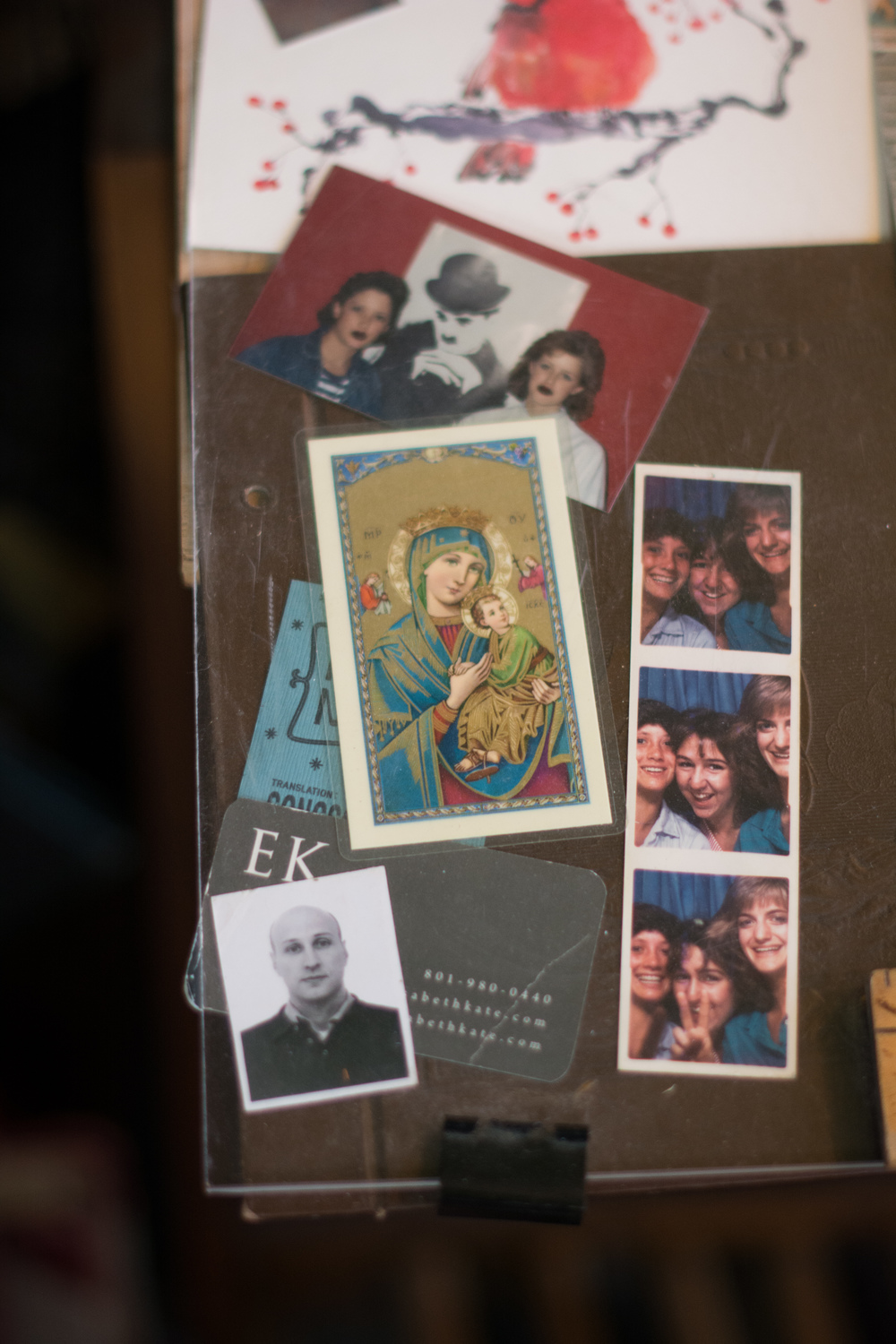 Photo booths are loved unconditionally in their home- I often found little pictures of Mary, Daryl- her husband, and the kids when they were young.