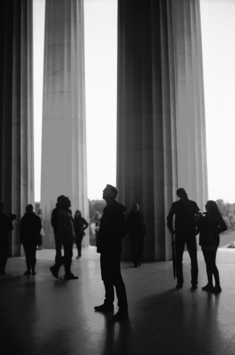 Taking in the monuments.
