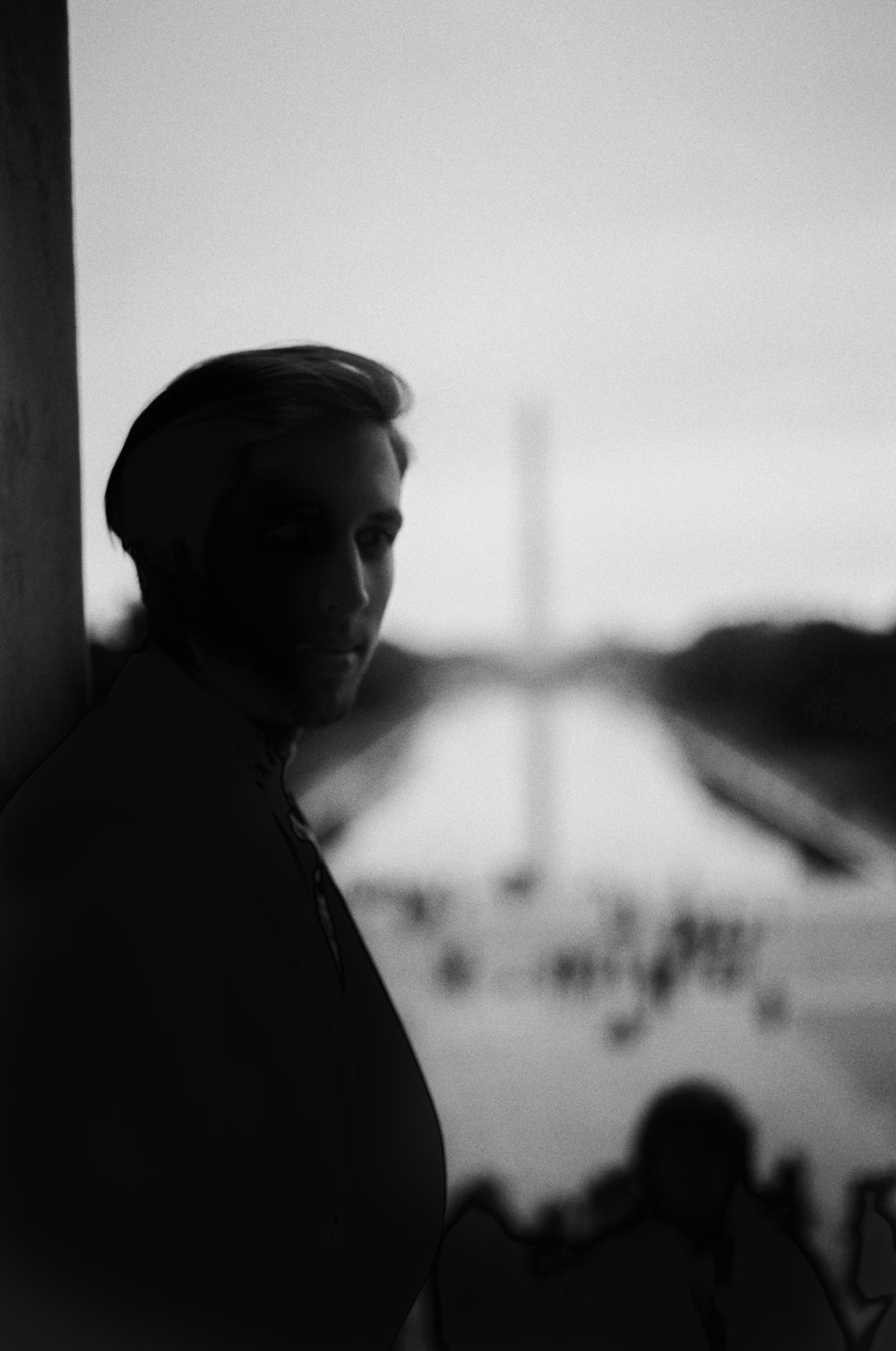 From the Lincoln Memorial to the Washington Monument.