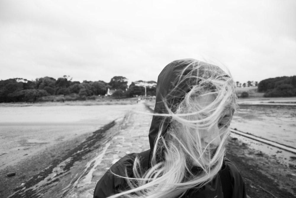 Hair days--ocean spray.