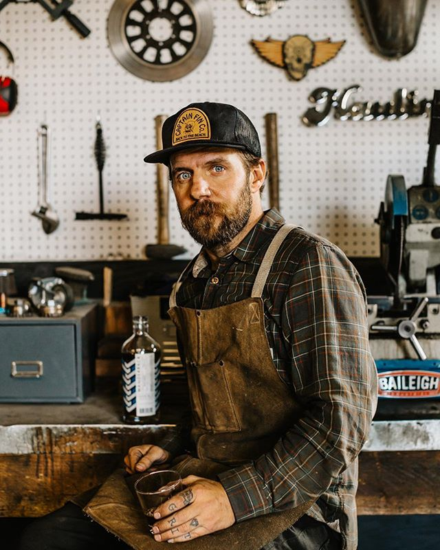 The insanely talented man and maker behind @futurefolksupplyco. Thanks for letting us follow you around this week Jason. #wanderbackwhiskey #portraitcollective #welderlife