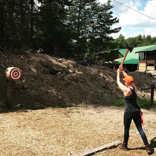 Stick it to this never ending winter and claim your spot at this year's Woodsman Camp. Link in bio. #projectwoodchips #visitadks #axethrowing #brooklyn