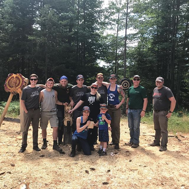 Team Woodchips 2018 on competition day #projectwoodchips #stihltimbersports #stihl #getoutside #visitadks