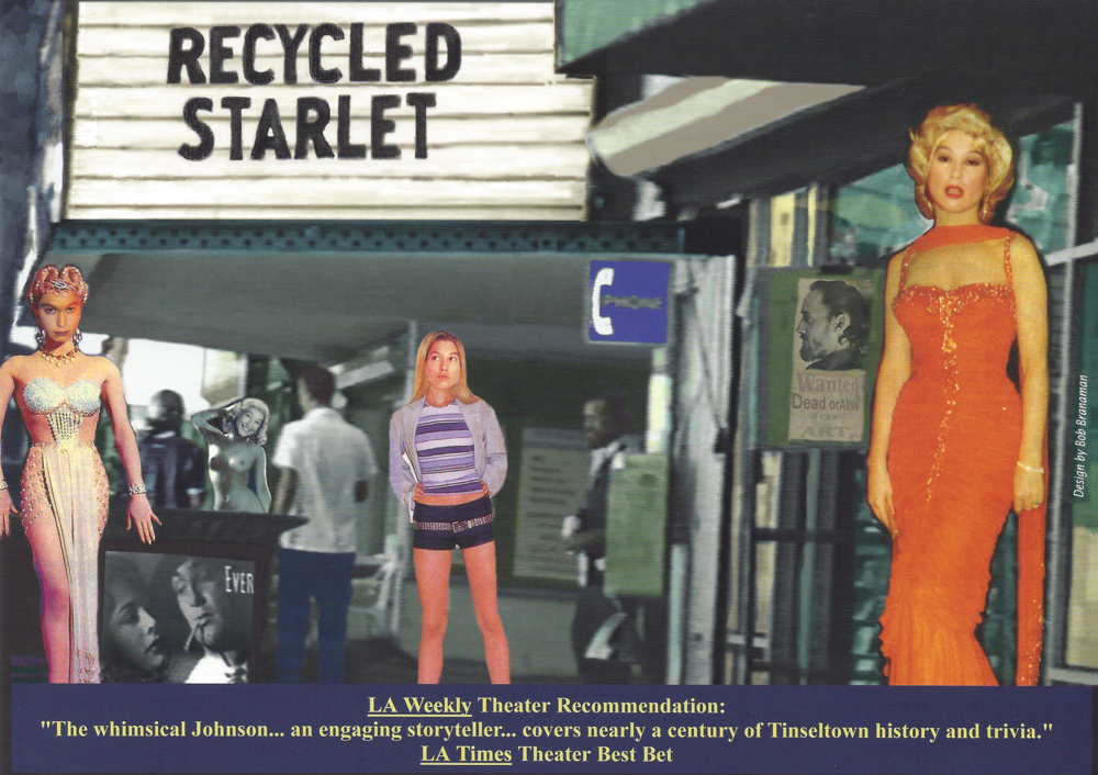 Postcard flyer for  Recycled Starlet . Design by  Bob Branaman .