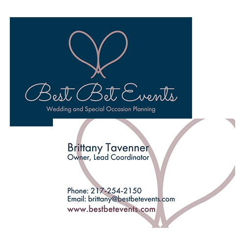 Event Planner branding logo graphic design by Hagan Design Co Champaign Illinois