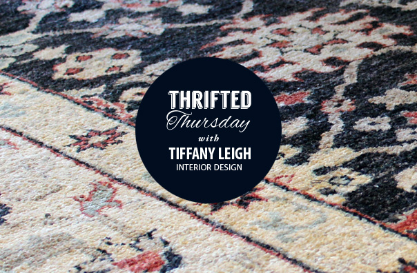 thrifted thursday, tiffany leigh interior design, elte rug