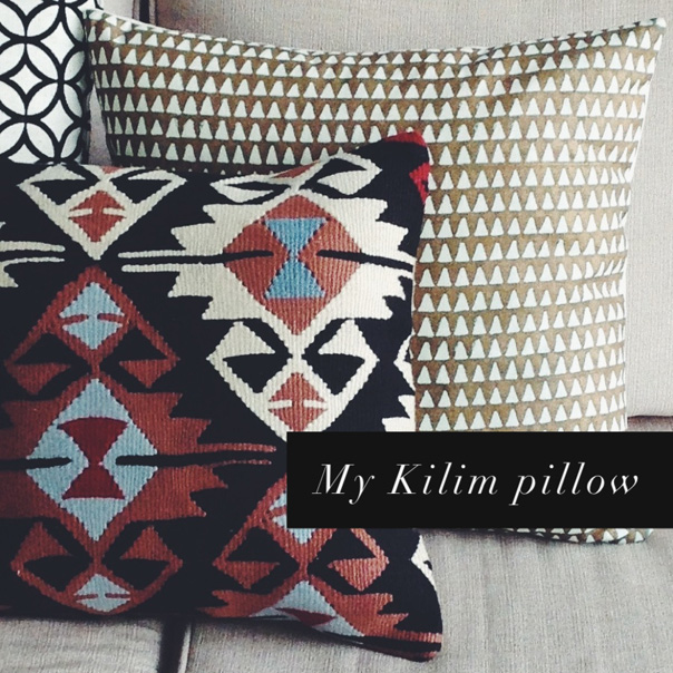 kilim pillow, brooklyn flea, christian rathbone