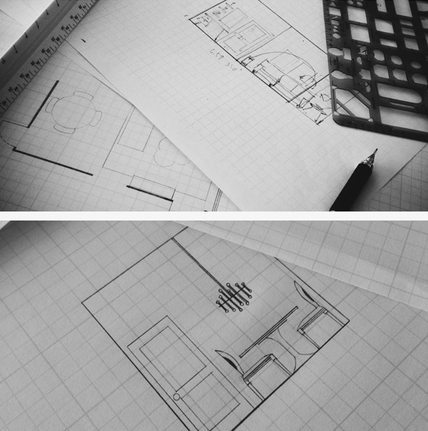drafting floorplan and elevations