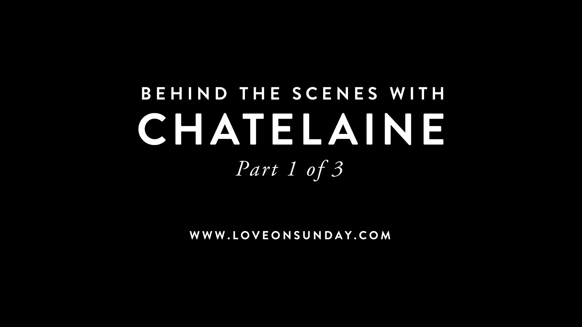 behind the scenes with Chatelaine