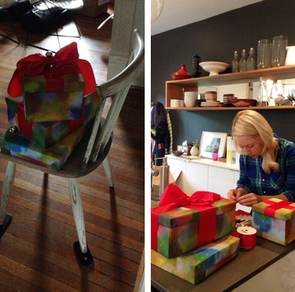 behind the scenes with chatelaine, homesense giftwrap
