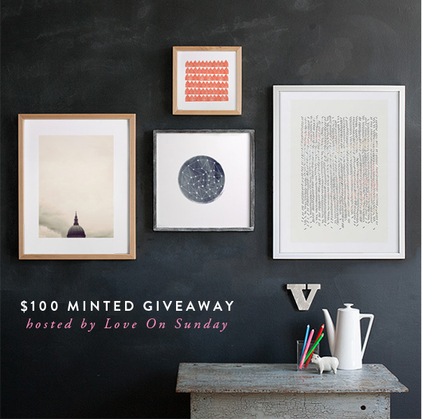 minted giveaway, love on sunday